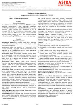Všeobecné poistné podmienky platné od 24.12.2014