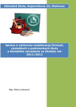 Správa za školský rok 2011/2012