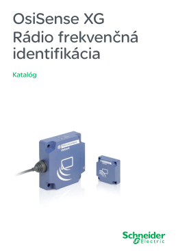 OsiSense XG - Elektronický katalog Schneider Electric