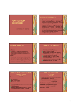 psychologia osobnosti