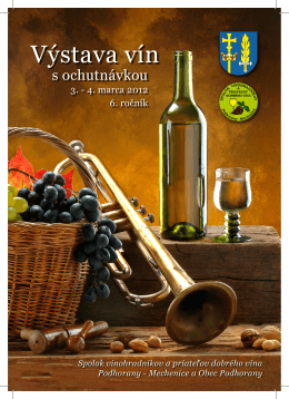 Katalóg vín 2012