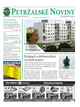 Inzercia - Petržalské Noviny