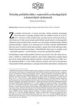 Počiatky poľského štátu v najnovších archeologických a