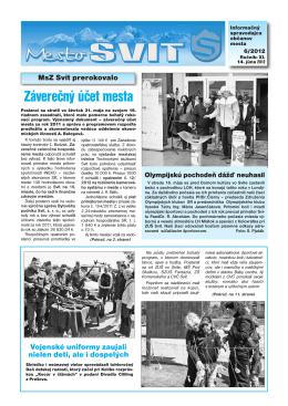 Informačný spravodajca občanov mesta 6/2012