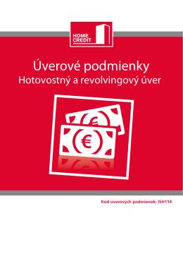 Úverové podmienky - Home Credit Slovakia as