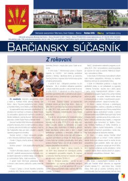 barčiansky súčasník - september 2014