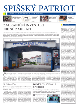 August 2014 II. - Spišský Patriot