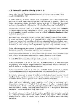 Ad: Ostatné kapitálové fondy (účet 413)