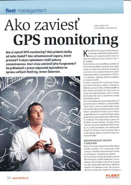 Ako zaviesť GPS monitoring - časopis FLEET