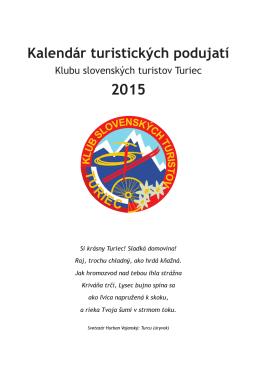 Kalendár turistických podujatí KST Turiec na rok 2015