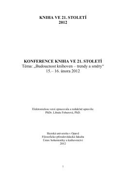 Sborník K21 2012 - Kniha ve 21. století (2014)