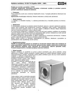 Návod na montáž a prevádzku GigaBox (.pdf) - ventilatory