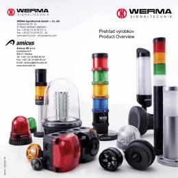 Prehľad výrobkov Product Overview