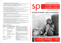 stáhnout číslo - Sociální práce