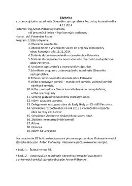 Zápisnica, uznesenie OZ 4.12.2014