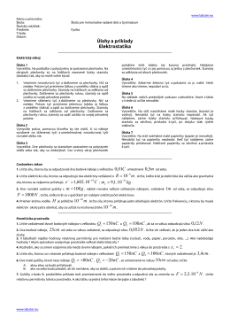 Úlohy a príklady