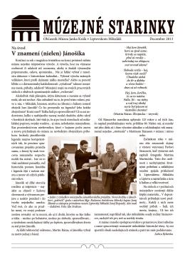 Múzejné starinky 2013 - Stiahnuť PDF