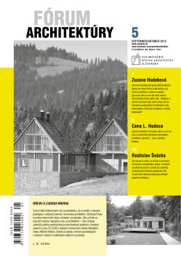 Fórum architektúry 5-2013.pdf - Spolok architektov Slovenska