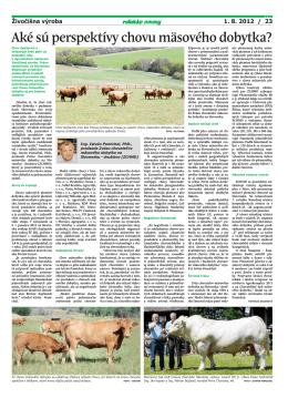 Aké sú perspektívy chovu mäsového dobytka?