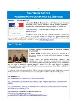 Informačný bulletin Francúzskeho veľvyslanectva na Slovensku