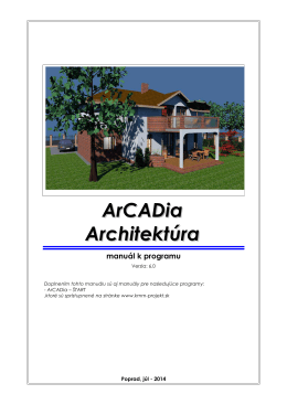 ArCADia - Architektúra - manual - kmm