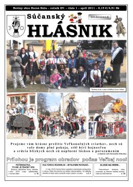 Súčanský hlásnik 2011 číslo 1 (pdf)