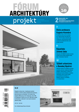 forum 2_14.pdf - Spolok architektov Slovenska