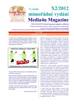 9. ročník X2/2012 mimořádné vydání Media4u Magazine