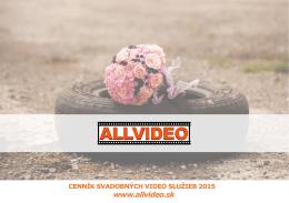 cenník svadobných video služieb 2015