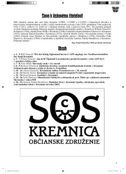 Kremnický letopis 1/2011