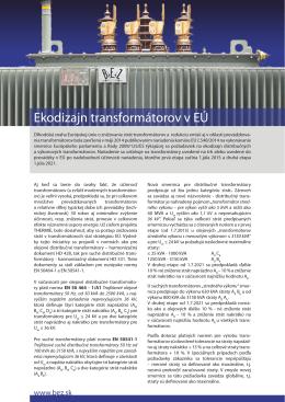 Ekodizajn transformátorov v EÚ