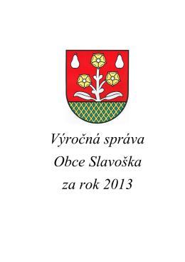 Výročná správa 2013 obec Slavoška.pdf