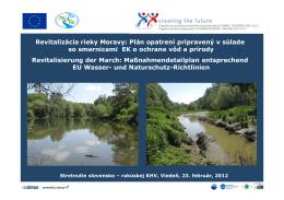 Revitalizácia rieky Moravy: Plán opatrení pripravený v súlade so