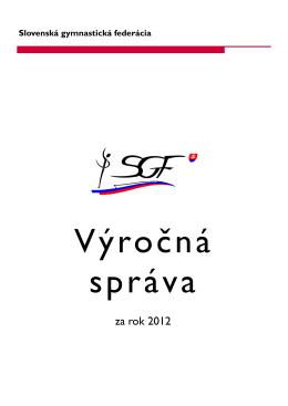 za rok 2012 - Slovenská gymnastická federácia