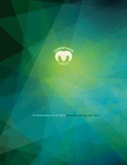 Výročná správa za rok 2013 - Považská cementáreň, as, Ladce