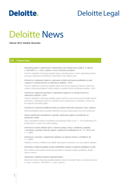 Deloitte News Február 2015