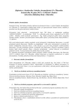 Zápisnica LS Štiavnik 30.06.2013