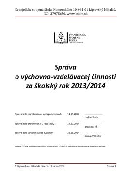 Evanjelická spojená škola, Komenského 10, 031 01 Liptovský