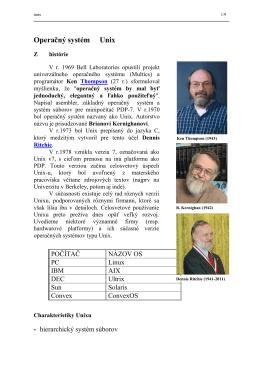 Operačný systém Unix