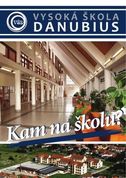Kam na školu - Vysoká škola Danubius