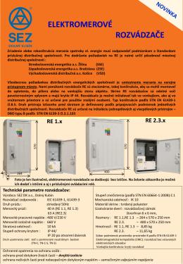 elektromerové rozvádzače