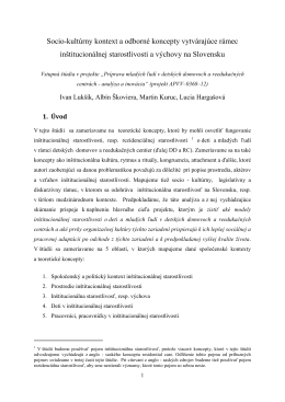 Teoretické problémy a diskurzy 29.1. 2014
