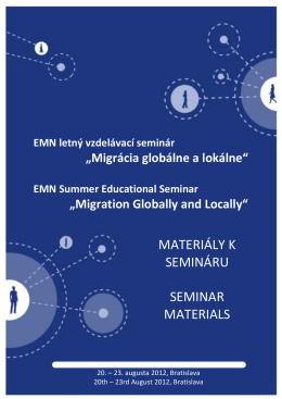 Materiály k vzdelávaciemu semináru Migrácia globálne a
