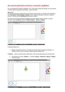 Ako vytvoriť jednoduchú animáciu v prostredí LogoMotion