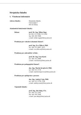 Správa o činnosti 2013 - Strojnícka fakulta
