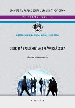 Obchodná spoločnosť ako právnická osoba - Informácie