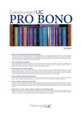 PRO BONO ULC 10 2014 - Čarnogurský ULC Law Firm