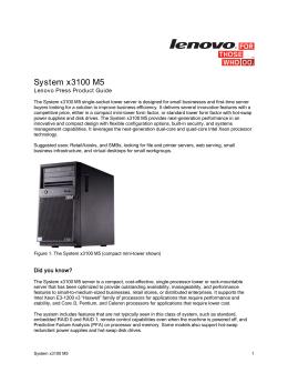 System x3100 M5