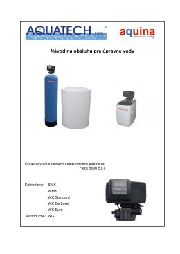Návod na obsluhu pre úpravne vody