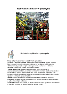 Robotické aplikácie v priemysle